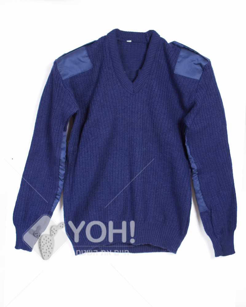 סוודר צמות כחול נייבי