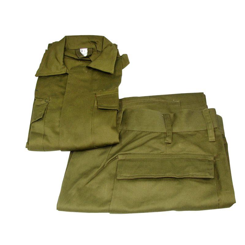 סט מדי ב בצבע זית - מכנס וחולצה מדים צבאיים