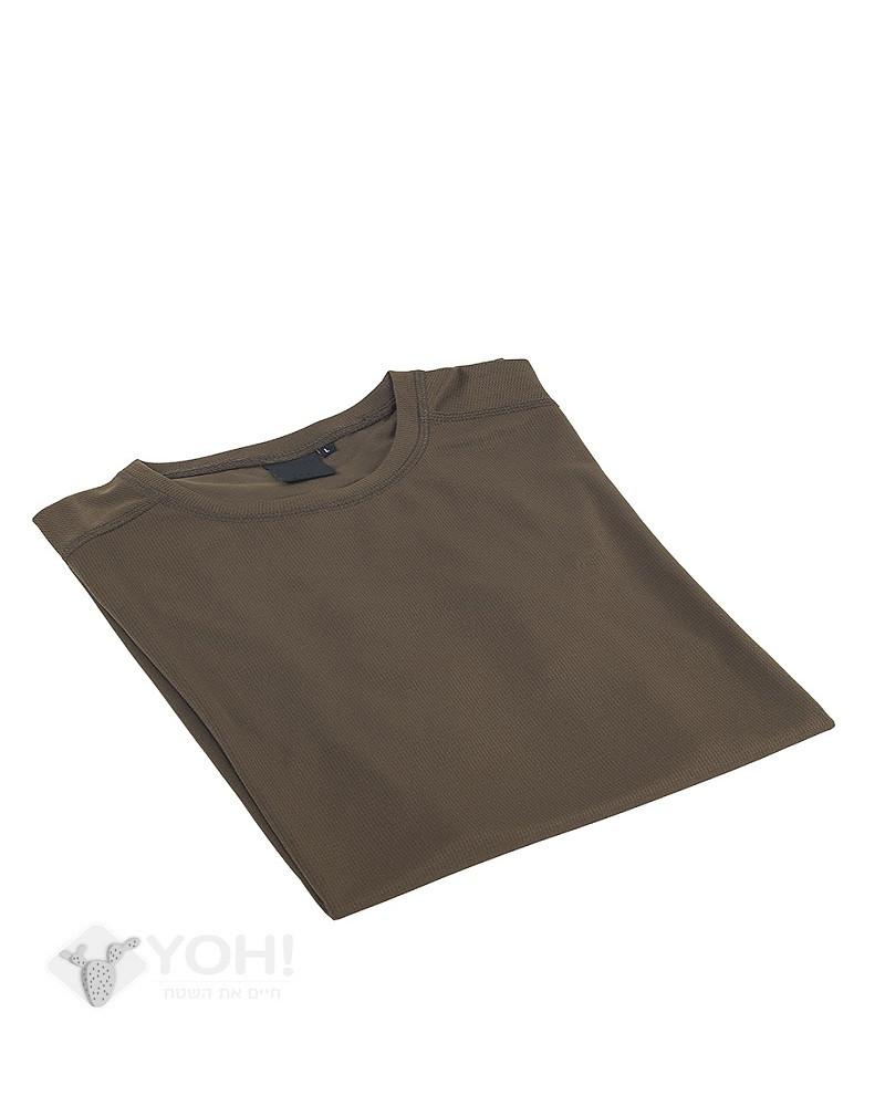 חולצה דרייפיט בצבע זית