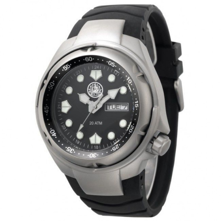שעון צלילה עם סמל של חיל הים