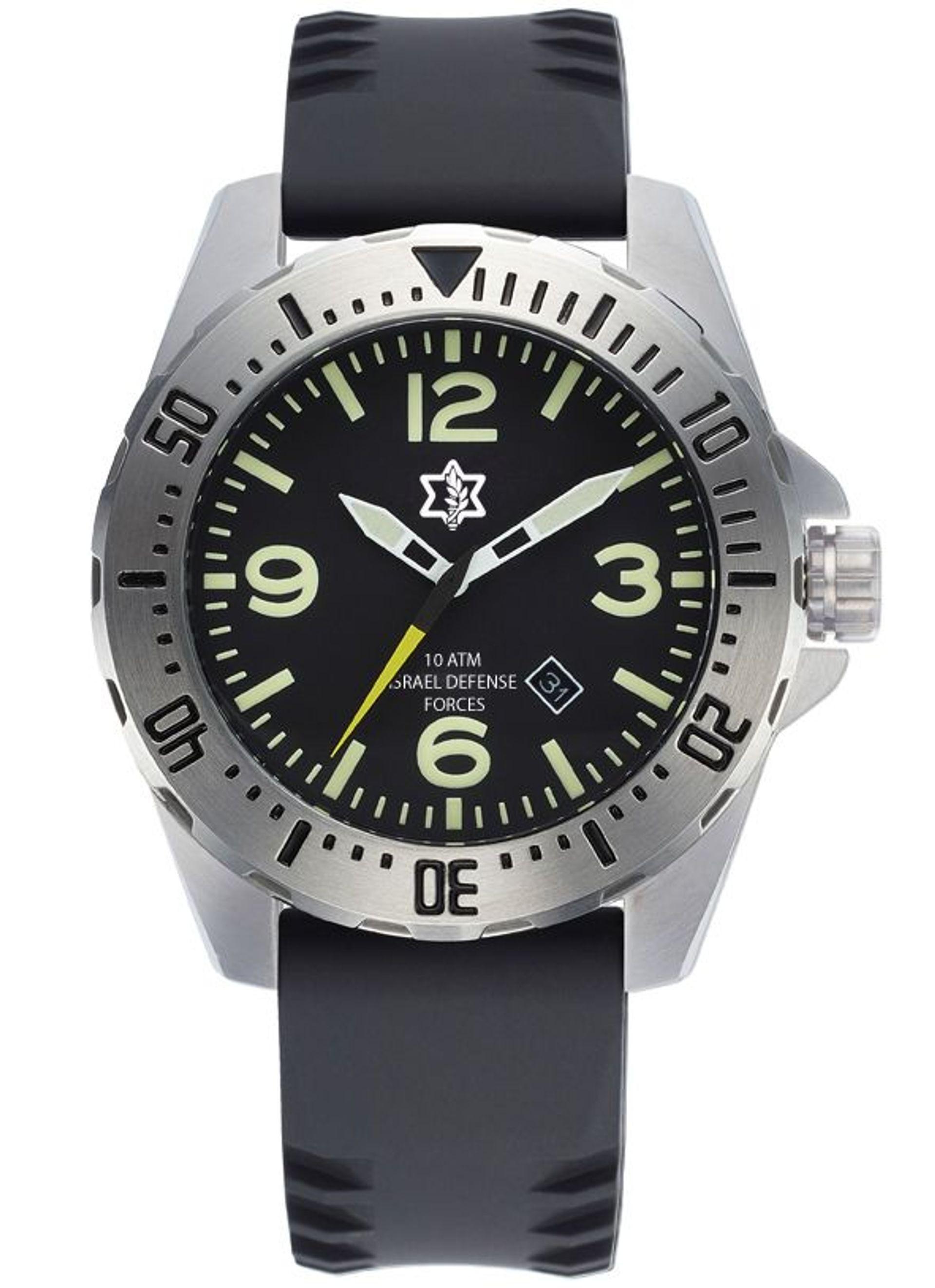 שעון צלילה עם סמל של חיל רגלים