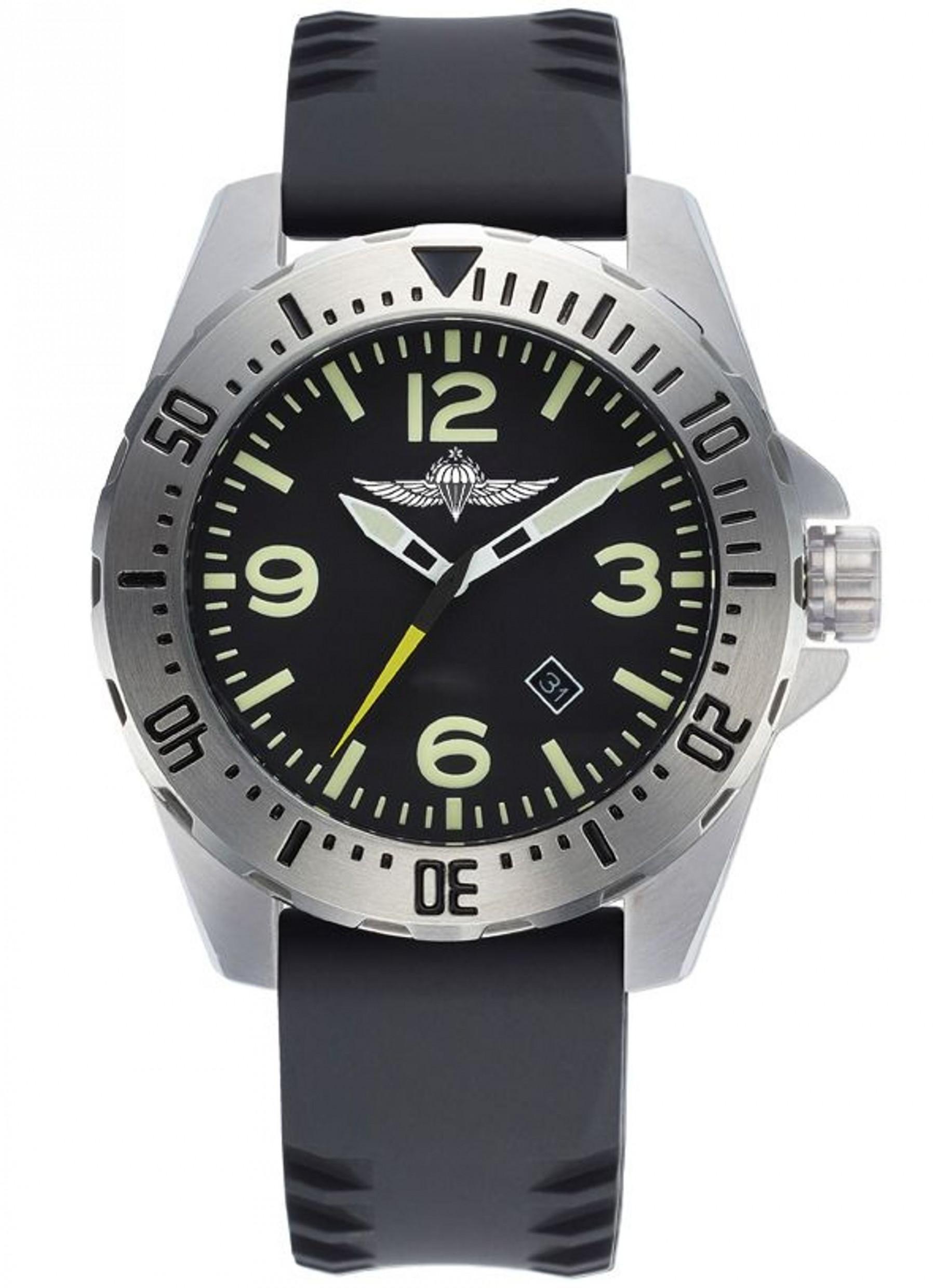 שעון צלילה עם סמל של צנחנים